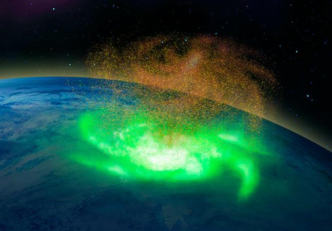 Furacão espacial é registrado pela primeira vez e surpreende cientistas