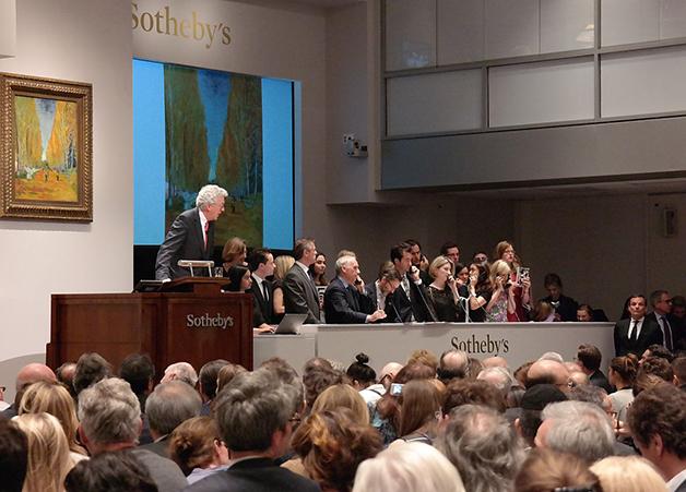 Leilão do quadro Lallée Des Alyscamps, de Van Gogh, vendido pela Sotheby's anos atrás por US$ 66 milhões de dólares
