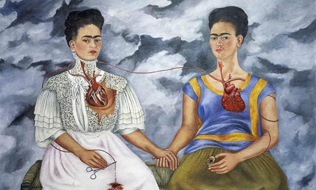 """""""Duas Fridas"""", quadro da mexicana que está exposto no Museu de Arte Moderno, do México"""