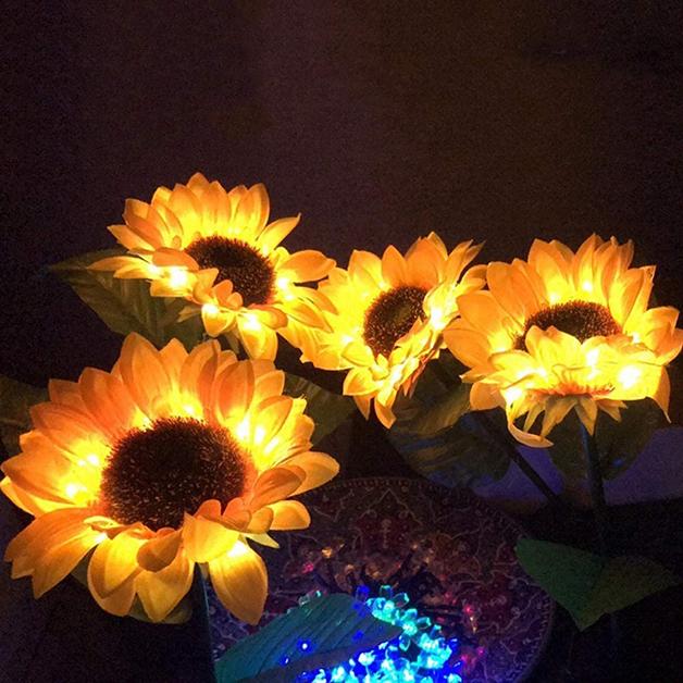 Luminárias de girassol