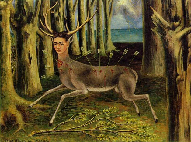 """""""O Cervo Ferido"""", quadro pintado por Frida em 1946"""