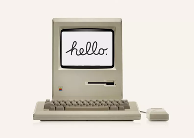 "O protetor de tela ""Hello"", da Apple"