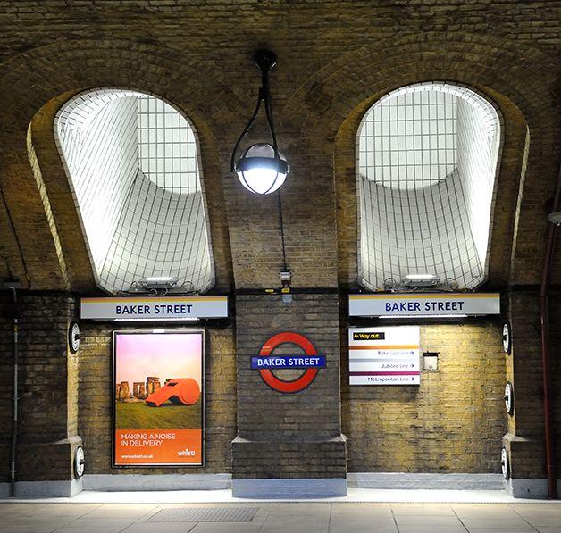 Detalhe da estação de Baker Street, em Londres