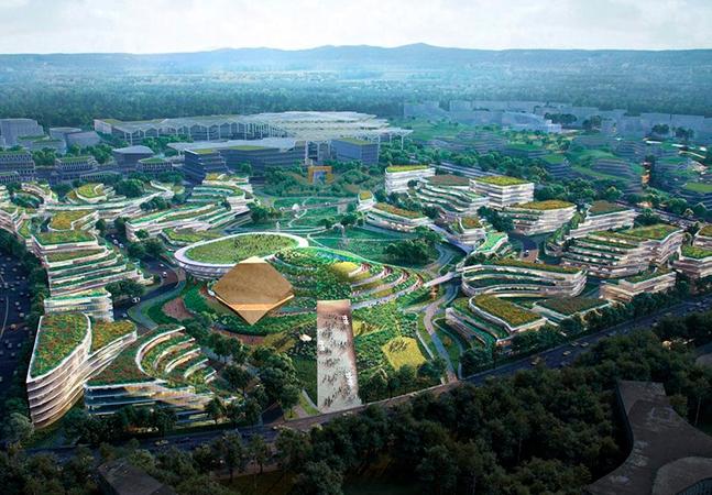 Cidade do futuro é projetada para o desenvolvimento da ciência e da tecnologia na China
