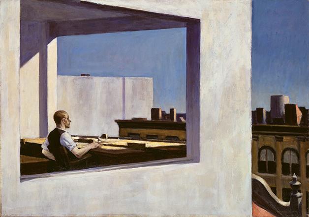 """Office in a small city"", quadro de Hopper de 1953"