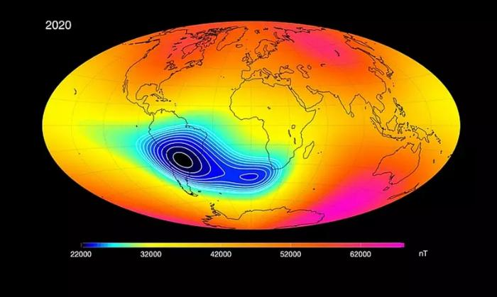 Atlântico Sul possui anomalia magnética que pode afetar vida na Terra.