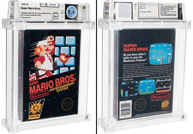 Fita do Super Mario Bros. lacrada desde 1986 é leiloada – por milhões de reais