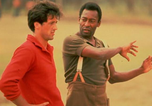 O dia em que Pelé quebrou o dedo de Stallone numa gravação
