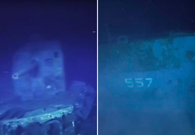 Naufrágio de navio da 2ª Guerra é filmado, ainda com armas, a mais de 6 mil metros de profundidade
