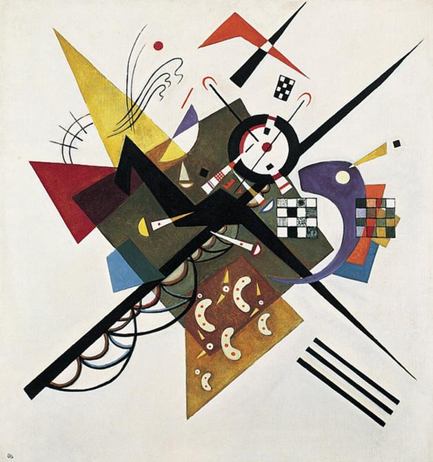 """""""On White II"""", de Kandinsky, pintado em 1923"""