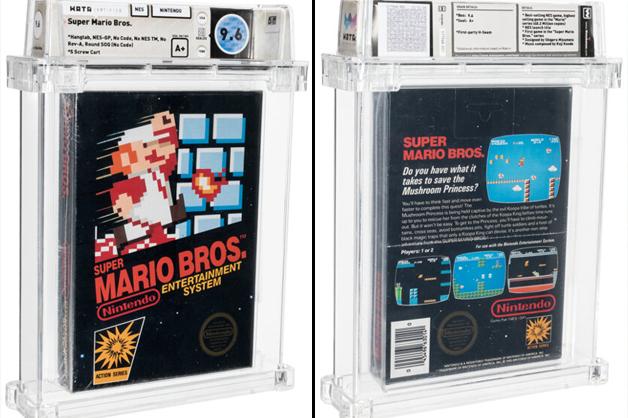 Fita de Mario Bros leiloada lacrada desde 1986