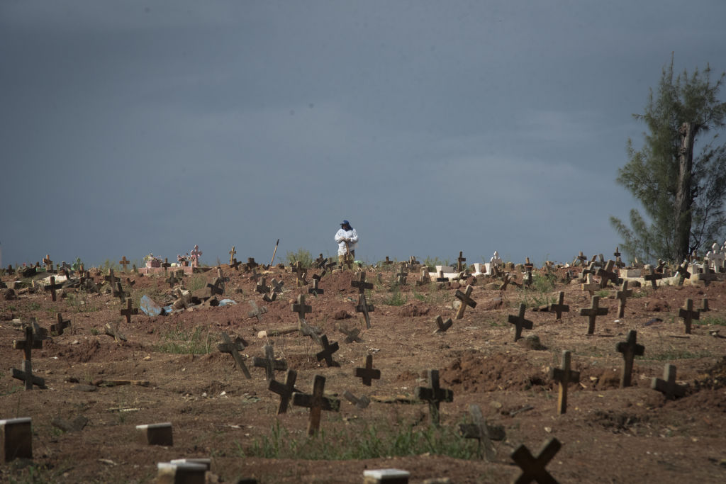 cemitério covid-19 no Brasil
