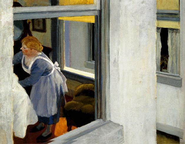 """Apartment Houses"", pintura de Hopper de 1923"