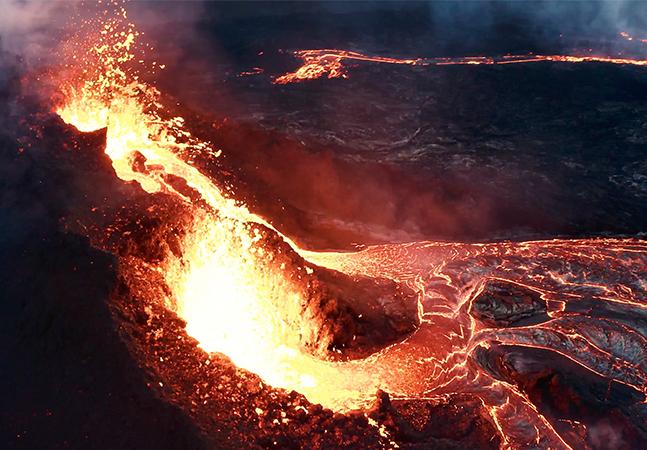 Imagens da erupção de vulcão na Islândia são transformadas em um incrível curta