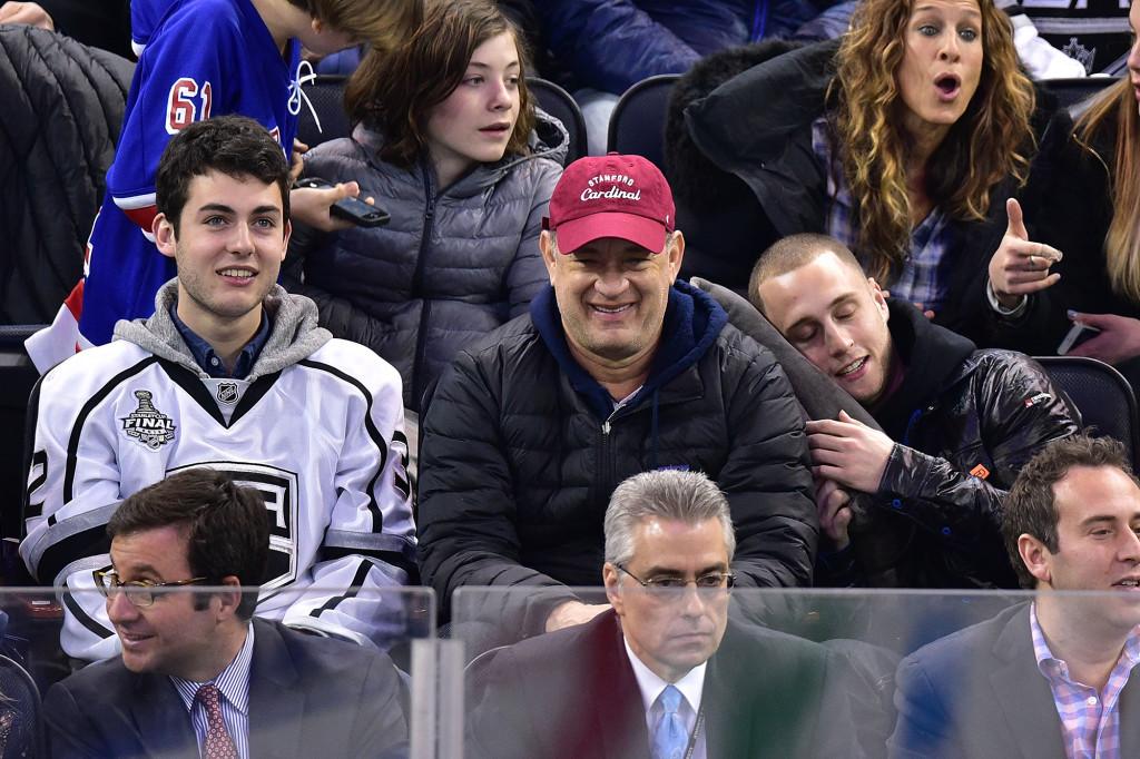 Tom Hanks e seus filhos