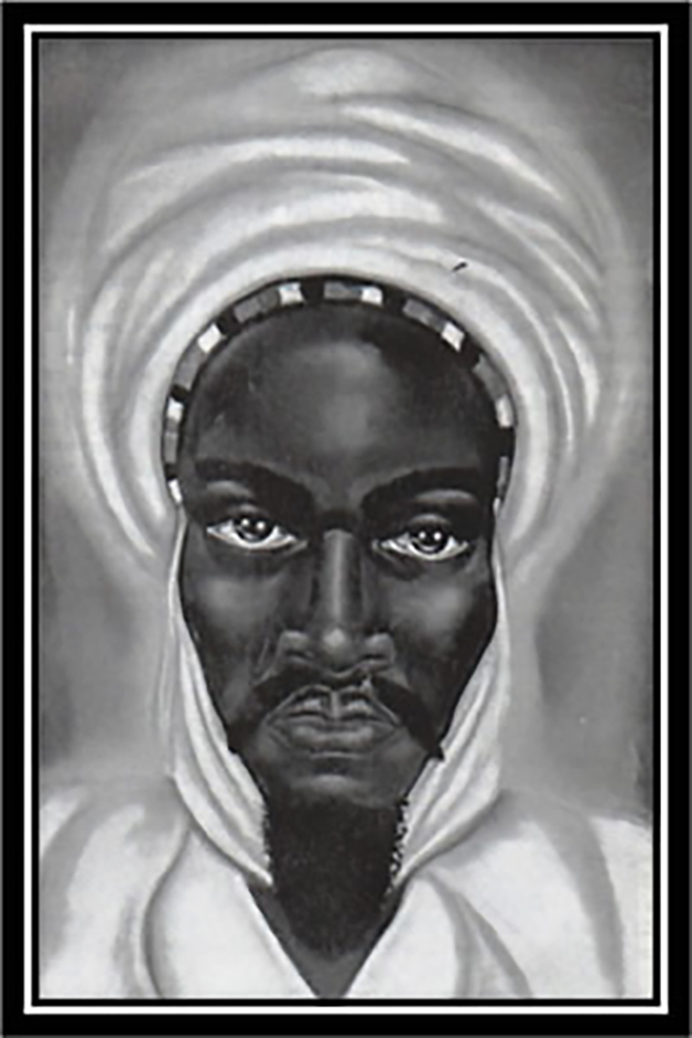 Ilustração de como seria o rei Abubakari II