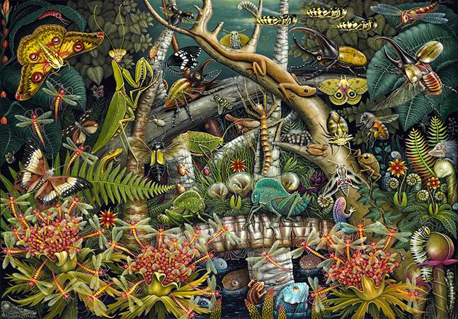 A natureza e o meio ambiente como inspiração para as loucas pinturas de Robert Connett