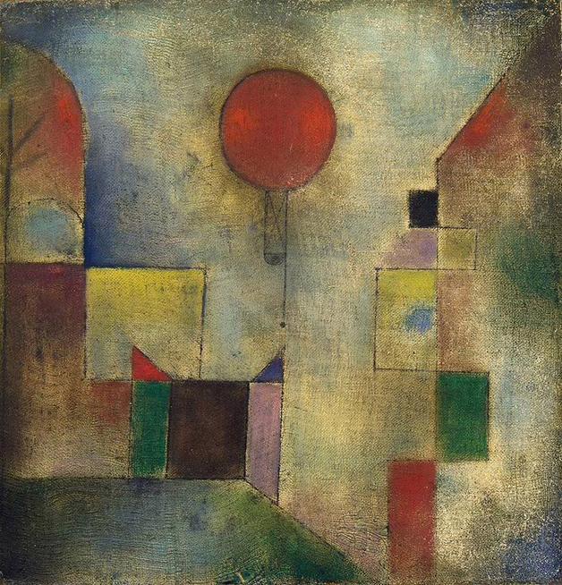 """""""Red Balloon"""", quadro de Paul Klee de 1922"""