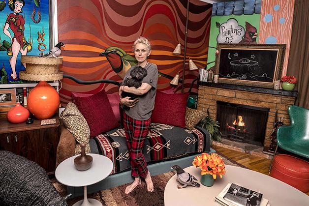 """Sally Davies e sua casa no livro """"New Yorkers"""""""