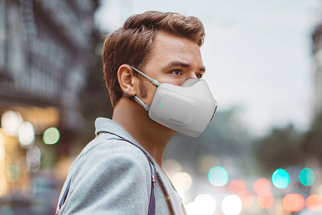 A máscara tecnológica criada pela LG