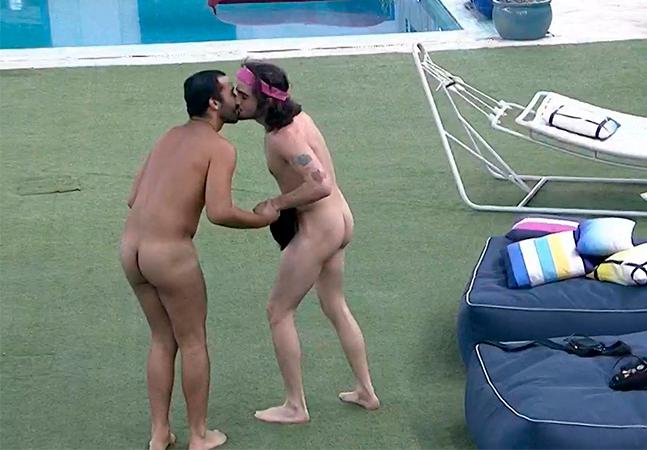 'BBB': Gil e Fiuk dão selinho, pulam nus em piscina e mostram que dá pra se divertir no reality