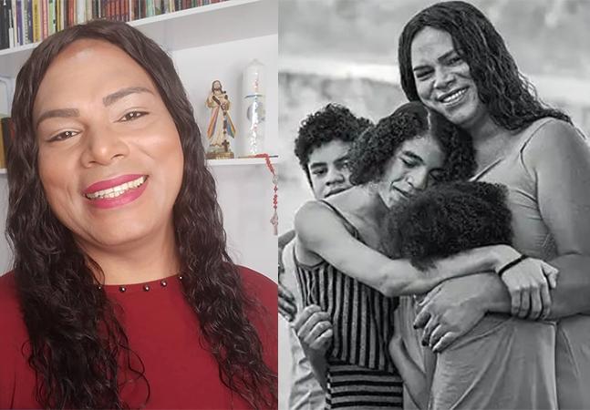 Travesti pioneira na adoção no Brasil é mãe de 2 meninas trans