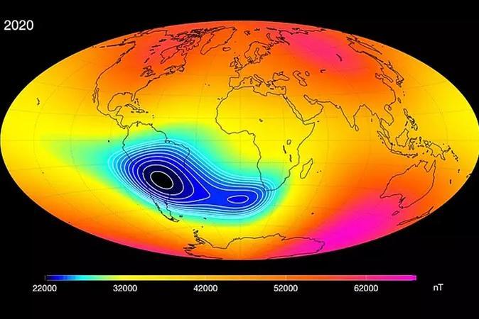 Atlântico Sul possui anomalia magnética que pode afetar vida na Terra