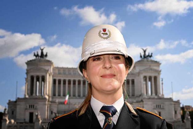 A controladora de tráfego Cristina Corbucci