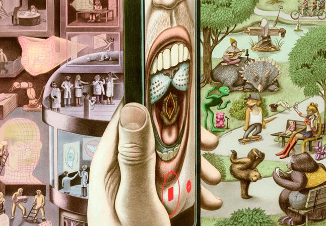 Ilustrador mistura passado, futuro, surrealismo e ciência em desenhos incríveis
