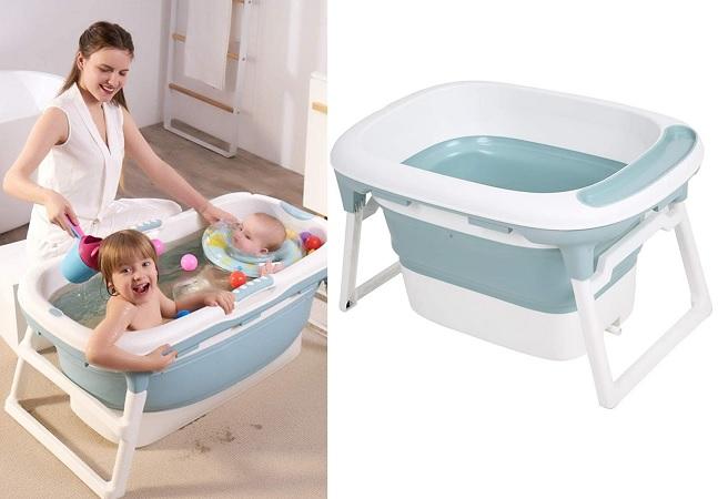 Essa banheira infantil grande é tudo que você e seu bebê precisam