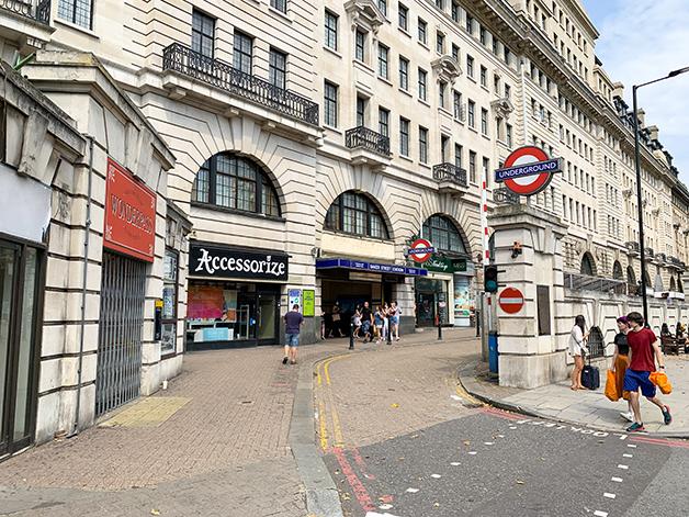 Entrada da estação de Baker Street, em Londres