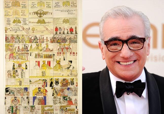 Os desenhos de Martin Scorsese com 11 anos para ilustrar um filme que gostava muito