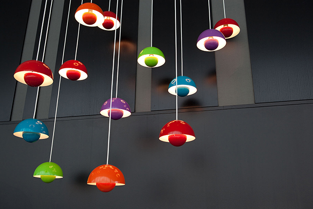 Luminárias desenhadas por Panton