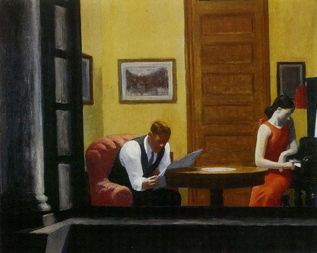 """Room in New York"", quadro de Edward Hopper de 1932"