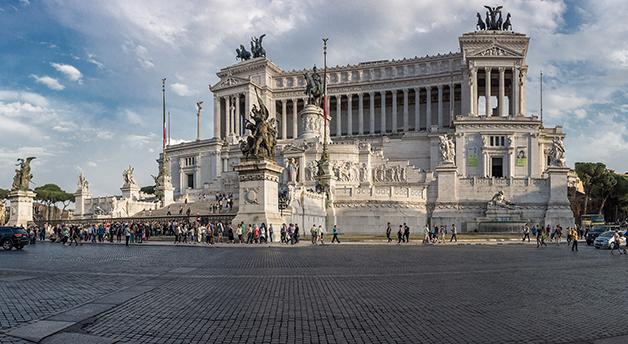 Detalhe do Monumento Nazionale a Vittorio Emanuele