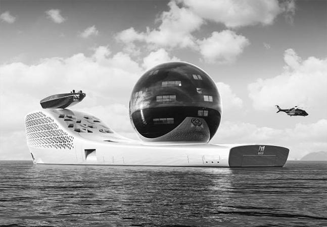 Super iate futurista será um laboratório tecnológico e luxuoso viajando pelos mares