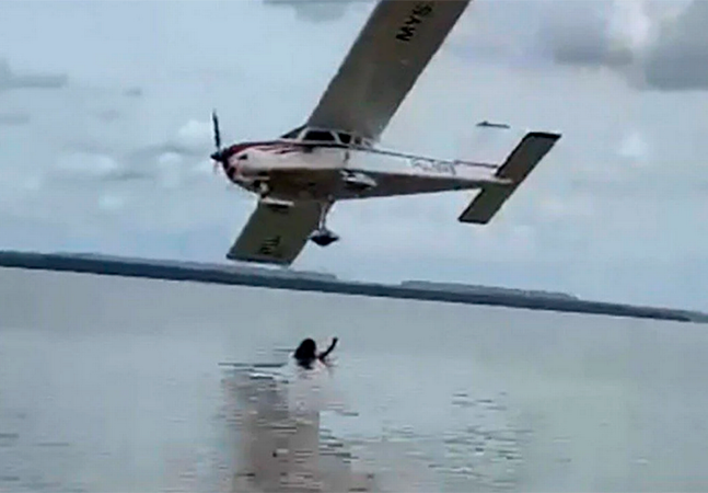 Piloto deu rasante em praia 'para fazer foto'; entenda caso