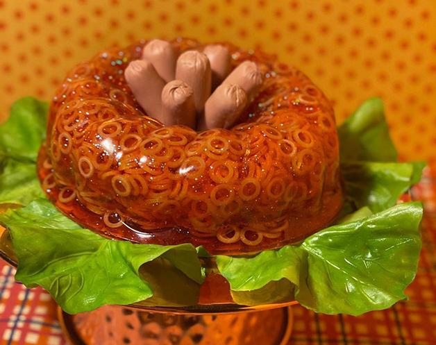Luminária de gelatina de espaguete
