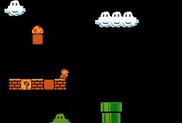 tela de Super Mario Bros.