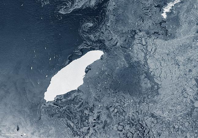 A68: o derretimento do que já foi o maior iceberg do mundo