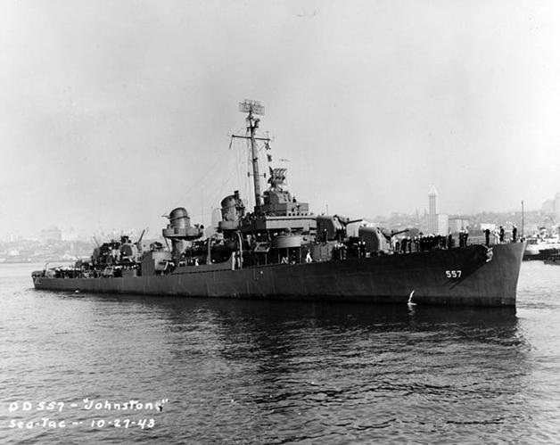 O USS Johnston em 1943