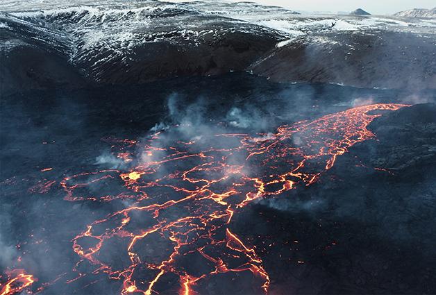 A erupção do vulcão Fagradalsfjall