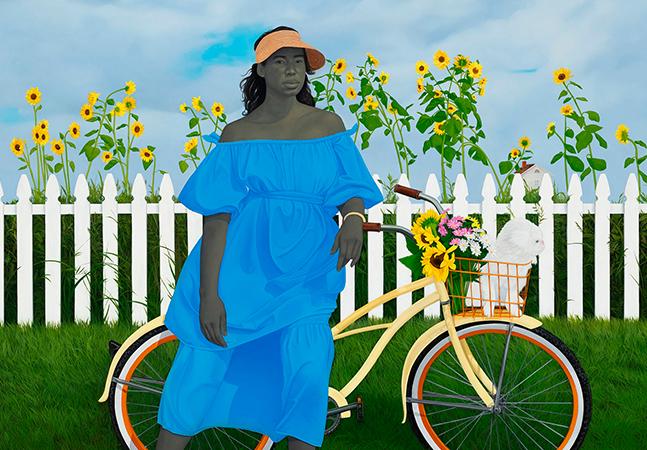 Amy Sherald enfrenta estereótipos raciais pintando personagens negras em momentos de lazer