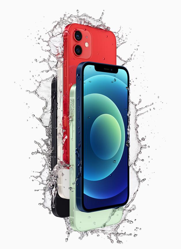 """O iPhone 12 """"molhado"""" na divulgação da Apple"""
