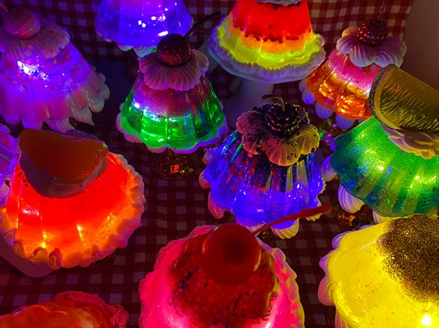 Luminárias de parfaits de Piqueniques