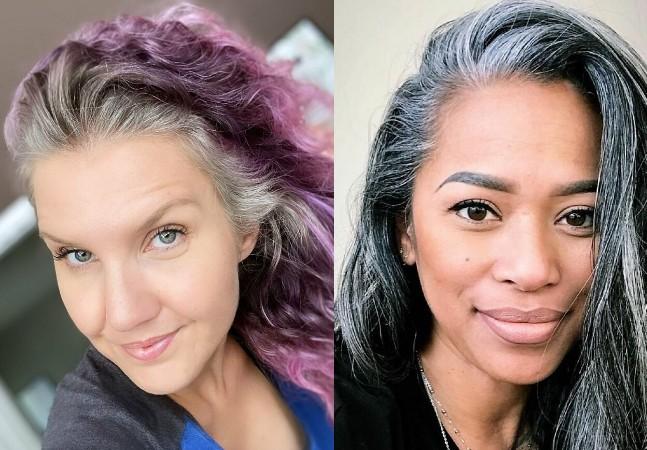 Elas assumiram os cabelos brancos e o resultado foi surpreendentemente libertador