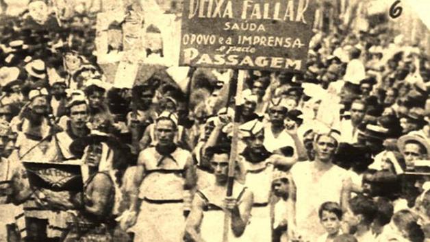 Um dos primeiros desfiles da Deixa Falar