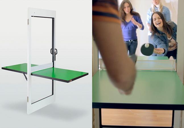 A porta que vira mesa de pingue-pongue que você nem sabia que precisava