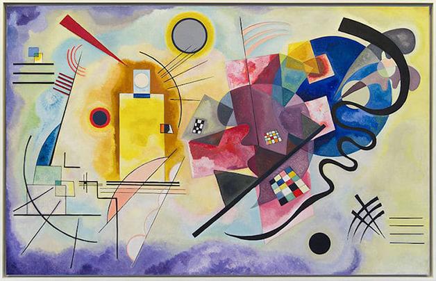 """""""Yellow-Red-Blue"""" (1925), de Wassily Kandinsky"""