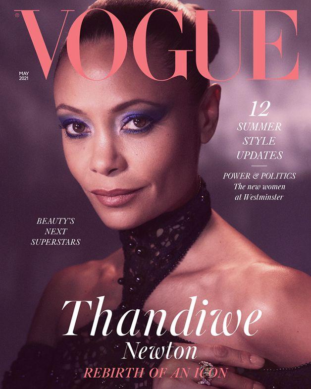 A atriz Thandiwe Newton na capa da Vogue